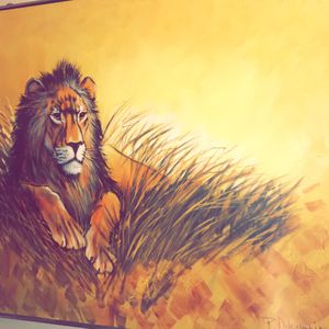 Large Lion Painting for Sale in Redmond, OR