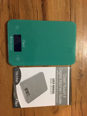 Ozeei touch II Digital kitchen scale for Sale in Fairfax, VA