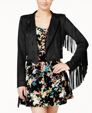 Material Girl Suede Fringe Jacket (Xs) for Sale in Philadelphia, PA