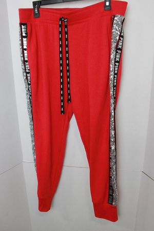 Victoria Secret PINK bling sweatpants L for Sale in Saint Robert, MO