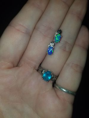 Ring .925 and opal earrings for Sale in Springfield, OR
