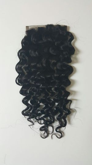 """10"""" Brazilian human hair deep wave lace closure free part for Sale in Lanham, MD"""