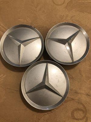 Genuine Oem Mercedes Benz Center Caps A163 400 00 25 Silver for Sale in Boston, MA