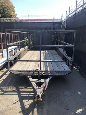 16' Flatbed Trailer Tall Sides Heavy Duty Utility Bumper Pull for Sale in Orange, CA