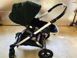 City selects double stroller like new, comes with maxi cosi car seat for Sale in Matthews, NC
