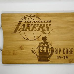 RIP Kobe laser engraved bamboo high quality cuttingboard valentines gift for Sale in Los Angeles, CA