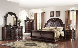 🎀[EXCULUSIVE] Stanley Cherry Brown Sleigh Bedroom Set 🎀🚛SameDay Delivery for Sale in Glen Burnie, MD