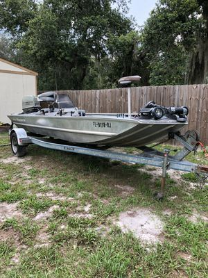 17 ft All Aluminum Bass boat fully loaded for Sale in Kissimmee, FL