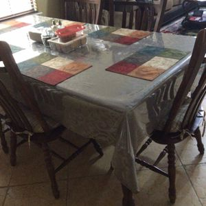 Table And 6 Chairs But 1 Chair Arm Is Broken for Sale in Gilbert, AZ
