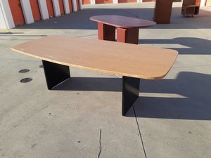 Excellent 8ft oak conference table!! Chars available for Sale in Fontana, CA