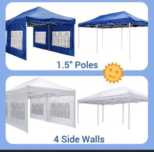New $190 Heavy-Duty 10x20 Ft Outdoor Ez Pop Up Party Tent Patio Canopy w/Bag & Sidewalls for Sale in Chino, CA