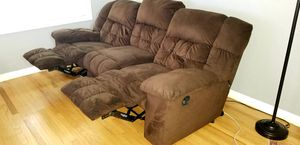 Reclining Brown Sofa Couch for Sale in Burbank, CA