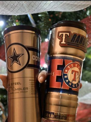 Cowboys and rangers tumblers!! for Sale in Cedar Hill, TX