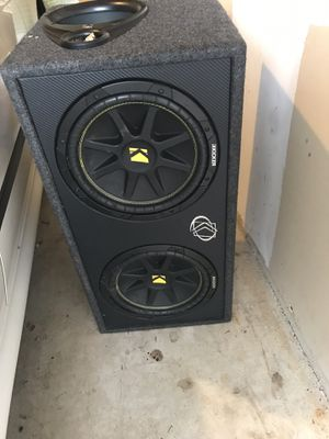 "12"" Kicker Car subwoofers and and kicker amp for Sale in Manassas, VA"