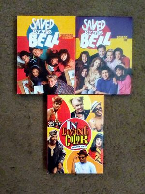 90s TV Shows DVD Bundle Saved By The Bell Season 1-2&5 in Living color season 2 for Sale in Fresno, CA