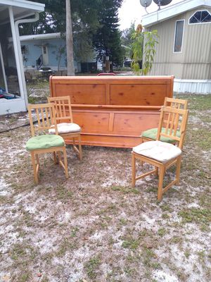 Head and foot board + 4 chairs for Sale in Lake Wales, FL