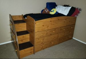 Twin Loft bed or Captains Bed for Sale in El Mirage, AZ