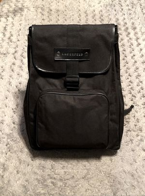 New! Men's Karl Lagerfeld Backpack lots of storage space including side compartments, and front flap! Very nice bag goes with any outfit, perfect for for Sale in Washington, DC