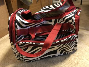 Red zebra duffel bag for Sale in Mount Airy, MD
