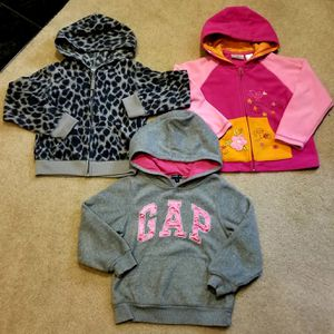 Three, Size 5/6 toddler hoodies for Sale in Puyallup, WA