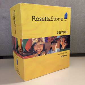 Rosetta Stone German levels 1-5 New without factory seal for Sale in Santee, CA