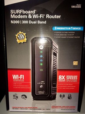 MOTOROLA SURFBOARD WIFI MODEM/ROUTER for Sale in Fredericksburg, VA