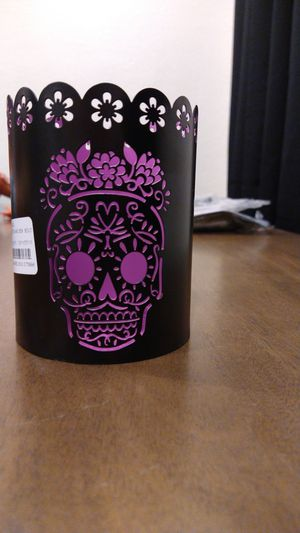 Day of the dead/ skull candle holder for Sale in Anaheim, CA