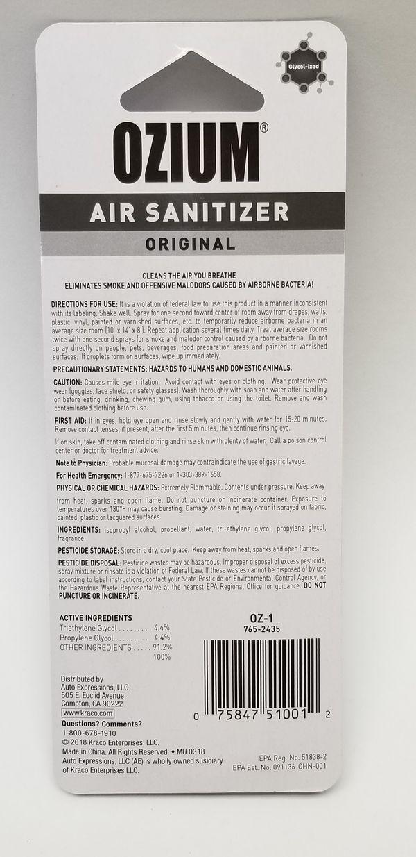 OZIUM Original Air Sanitizer Odor/Smoke Eliminator .8oz Spray Cans
