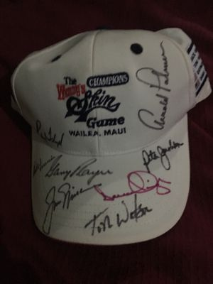Autographed skins game hat signed by all eight players for Sale in West Palm Beach, FL