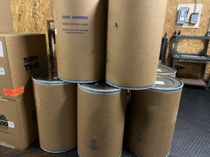 55 gal shipping barrel drum fiber cardboard 55 gallon for Sale in Philadelphia, PA