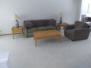 Living room set chair couch tables lamps for Sale in Schaumburg, IL