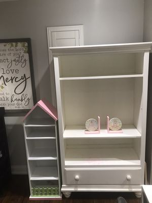 Large White Book Shelf $40 small $25 for Sale in Irving, TX