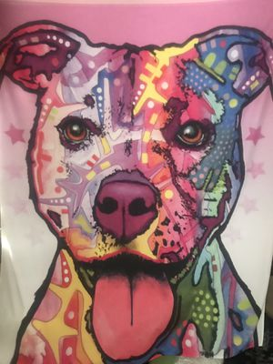 Pitbull dog tapestry for Sale in Rancho Cucamonga, CA