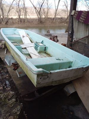Boat and trailer and trolley motor for Sale in Cedar Hill, MO