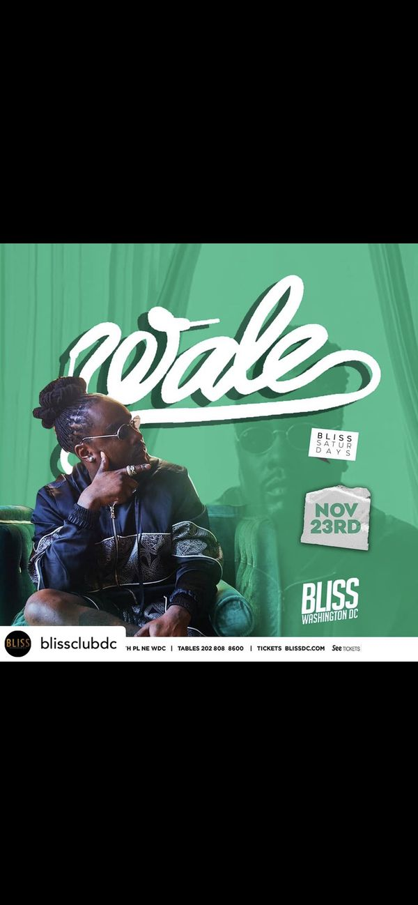 Wale Live Thanksgiving Weekend