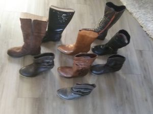 Boots. 8 pairs size 6 for Sale in Glade Springs, WV