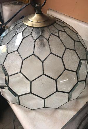 Glass lamp fixture for Sale in Wichita, KS