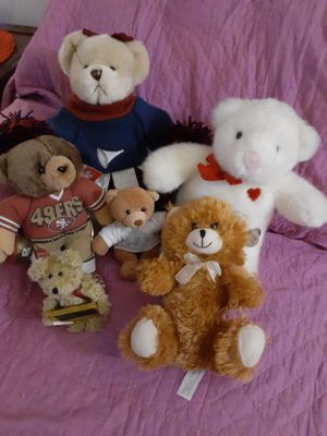 Variety of 6 Plush Teddy Bears for Sale in St. Louis, MO