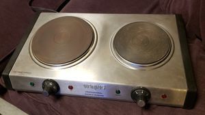 Waring Pro DB60 Double Burner for Sale in Queens, NY