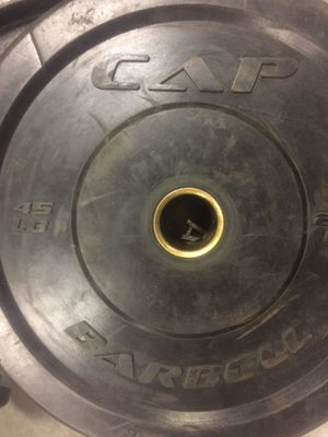 45lb and 35 lb CAP bumper plates for Sale in Colorado Springs, CO
