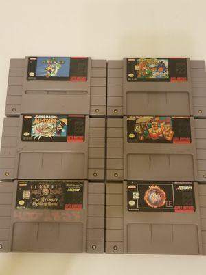 Super Nintendo games READ THE DESCRIPTION FOR INDIVIDUAL PRICES for Sale in Cypress, TX
