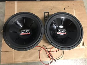 2 12 inch mtx thunder 6000 subs for Sale in Orting, WA