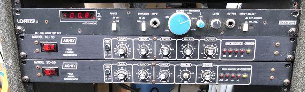 Ashly SC-50 Limiter Compressor (2) and Loftech TS-1 RM Audio Test Set