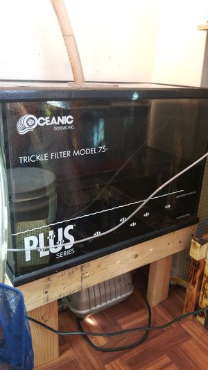 Trickle filter model 75 ,again heavy duty filter for aquarium 30 gallon tank and higher I have it on my 125 gallon works perfect. for Sale in Bronx, NY