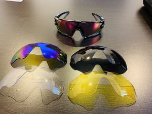 New Oakley JAWBreaker with PRIZM Technology Lenses and Replacements For Cycling Avtive Sports Active Biking Mountain Biking Baseball for Sale in La Puente, CA