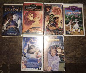 Set of 6 Disney vhs tapes for Sale in River Ridge, LA