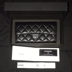 CHANEL Long Flap Wallet 'Silver/Black' 2019 for Sale in Columbia, SC