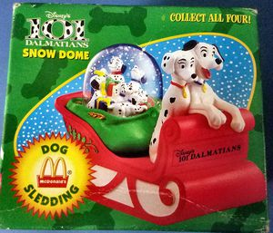 101 DALMATIANS 1996 DOG SLEDDING SNOW DOME - from MCDONALD'S.101 Dalmatians HAPPY MEAL COLLECTION for Sale in San Diego, CA