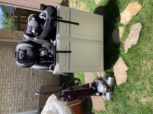 Car seats, Kirby vacuum cleaner and kitchen cabinet. $300 or best offer. for Sale in Irving, TX
