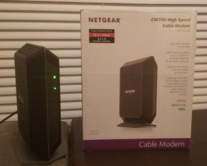 NETGEAR CM700-100NAS CABLE MODEM for Sale in Medford Lakes, NJ